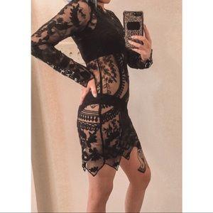 Honey Punch Mesh Dress/Cover-up